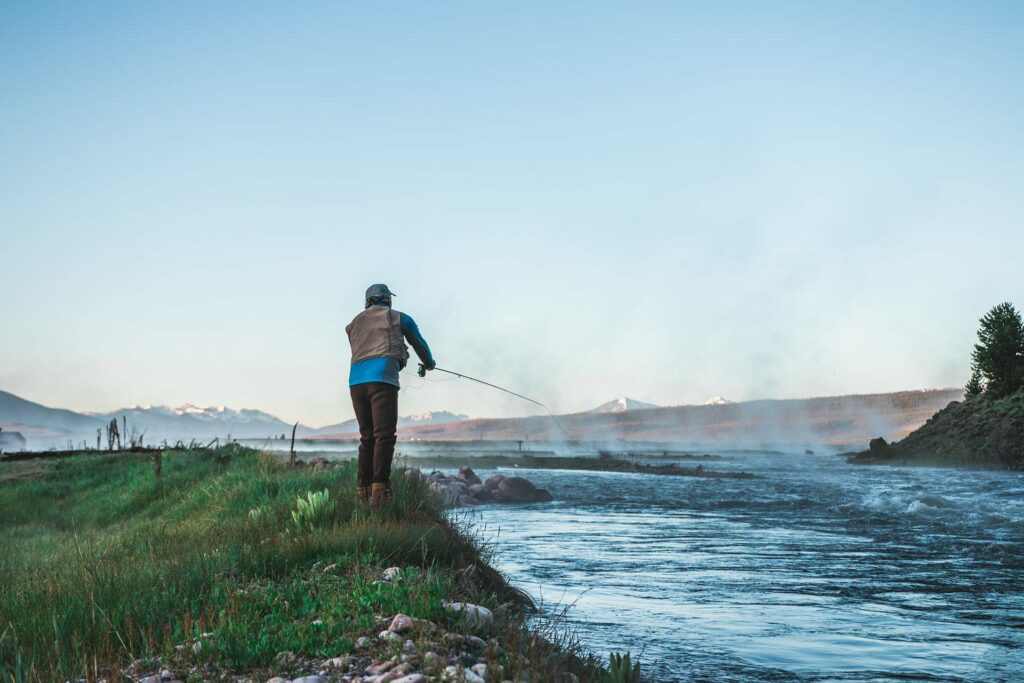 guided flyfishing on a river near stanley idaho