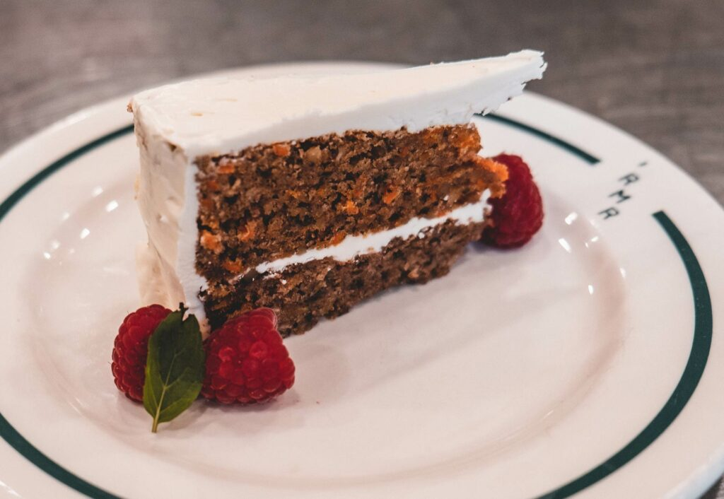 a gourmet dessert with fresh berries served at our rocky mountain ranch in stanley idaho
