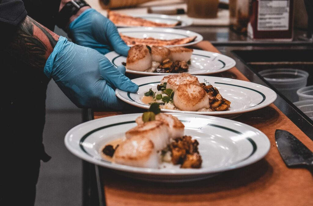 serving up a gourmet scallop dinner at our rocky mountain ranch in stanley idaho