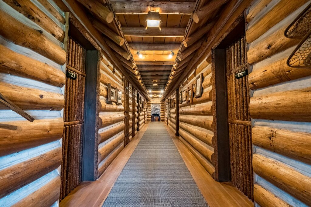 Beautiful log cabin vacation rooms at our idaho ranch lodging